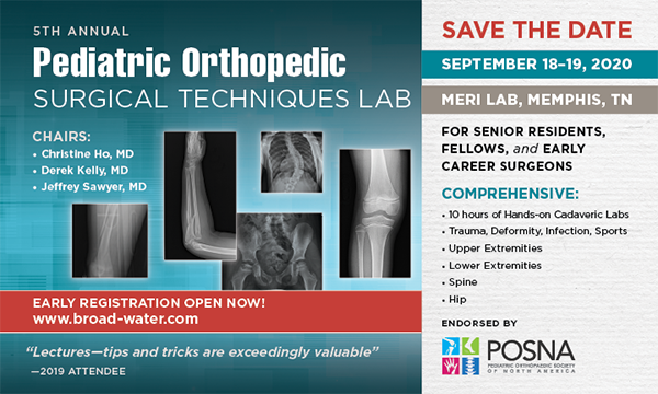 Pediatric Orthopedic Surgical Techniques POST Lab 2020