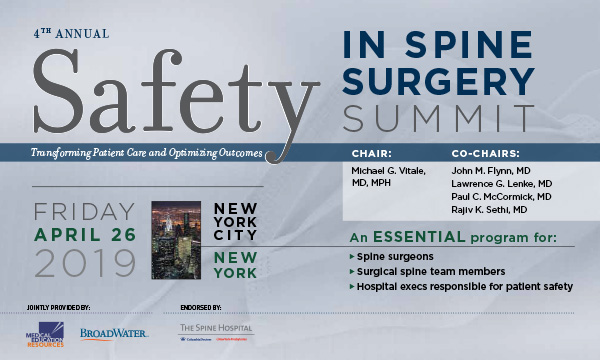 Safety in Spine Surgery Summit Meeting Feature-2019