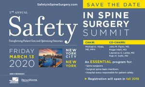 Safety - Spine Safety Summit