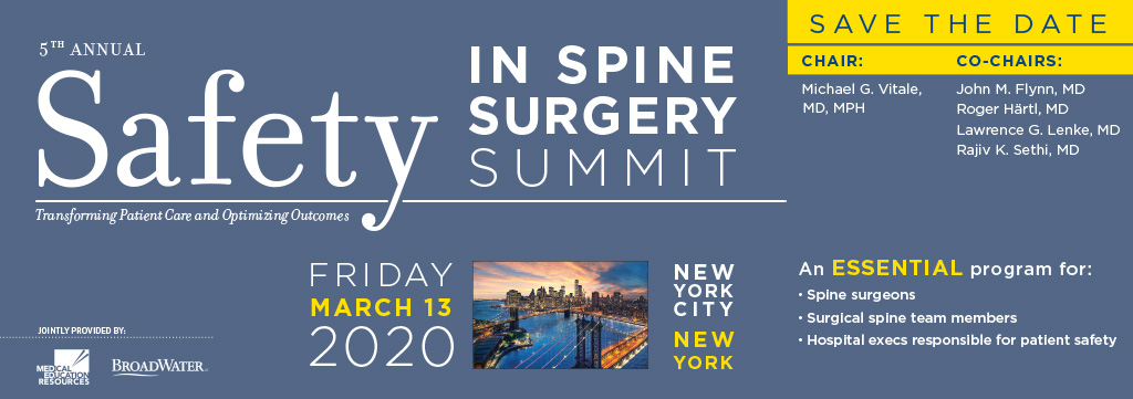 S3P-Safety in Spine Surgery Summit Meeting-2020