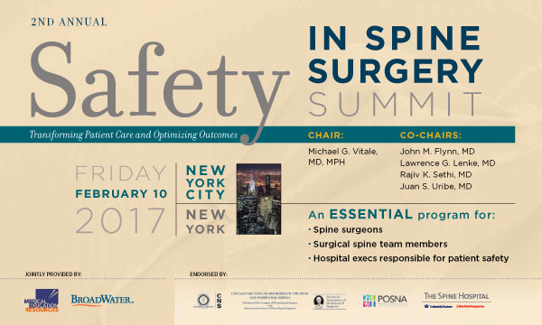 Safety in Spine Surgery Meeting