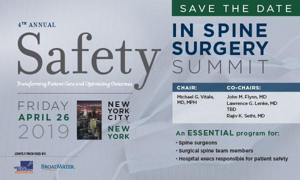 Safety in Spine Surgery Summit-2019