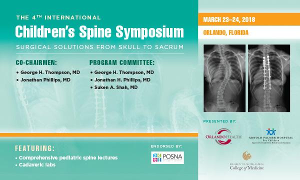 International Children's Spine Symposium (ICSS) 2018