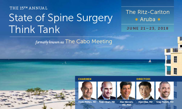 State of Spine Surgery Think Tank 2018, Formerly The Cabo Meeting