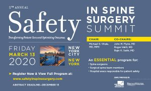 S3P Safety in Spine Surgery Summit