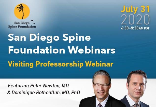 San Diego Spine Foundation Webinars - Visiting Professorship Webinar