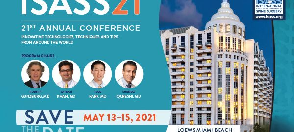 ISASS Meeting 2021 - Save The Date-Loews