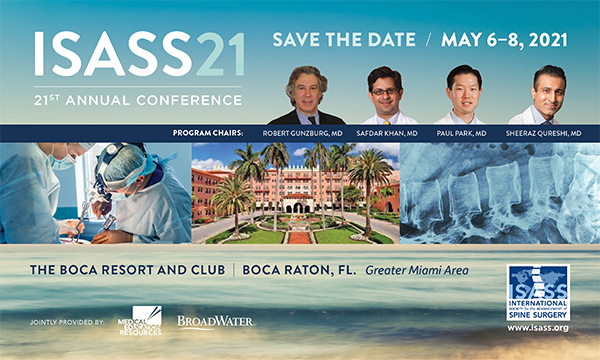 International Society for the Advancement of Spine Surgery ISASS Annual Meeting