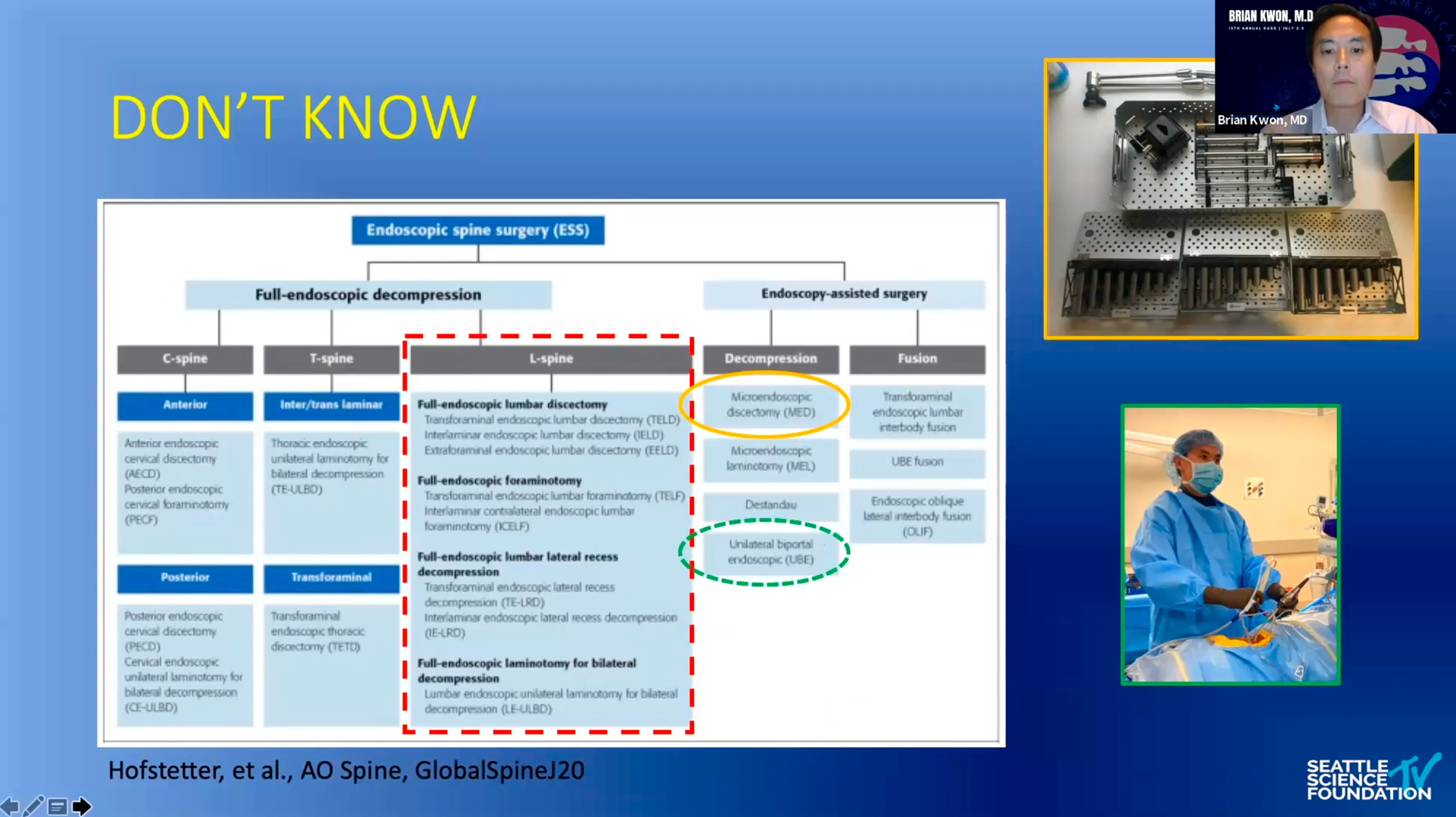 Endoscopic Spine Surgery-Kwon, MD - KASS 2020
