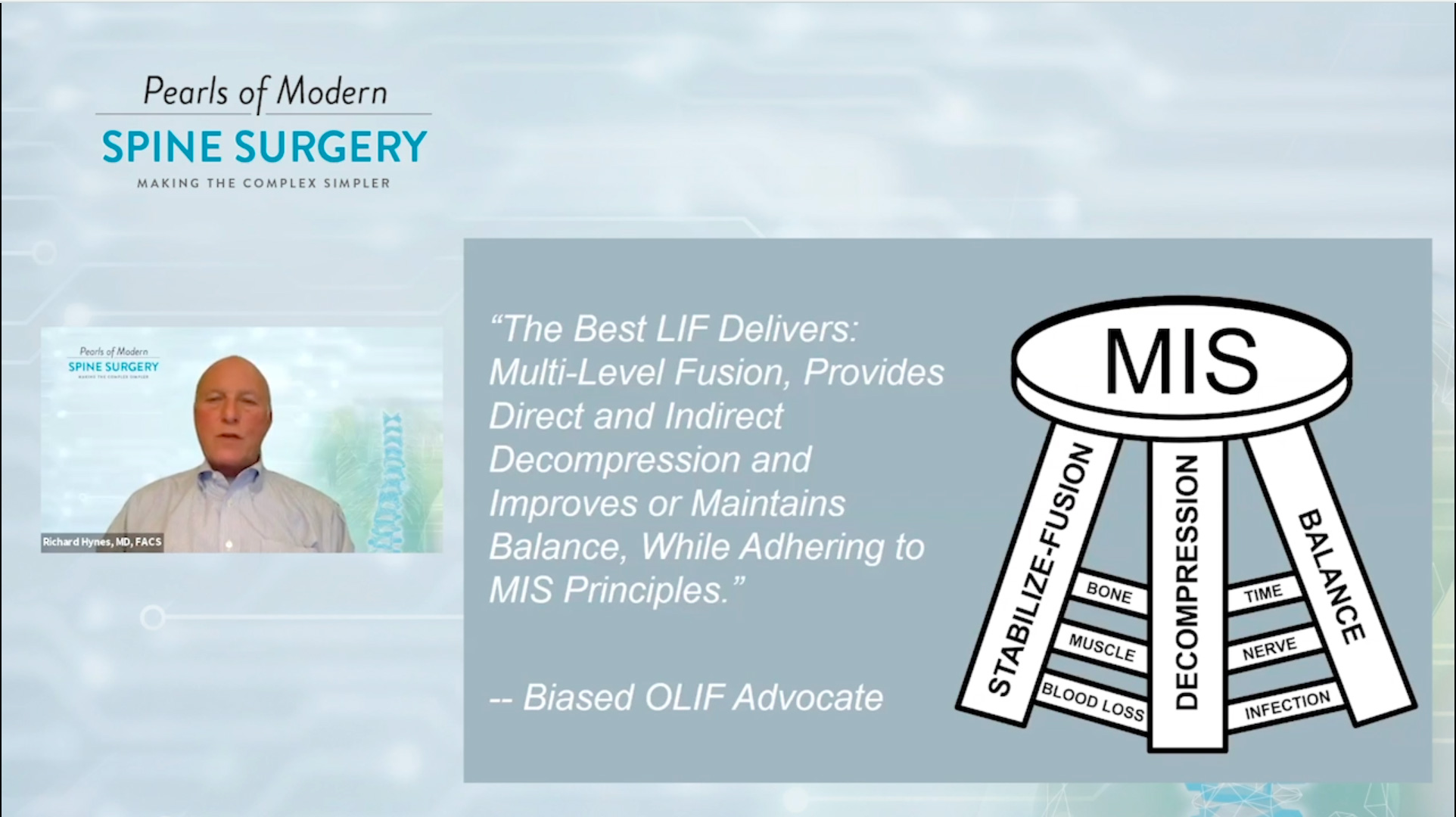 Pearls of Modern Spine Surgery - OLIF - Dr. Hynes