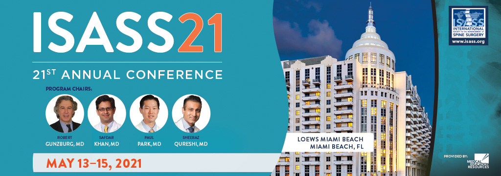 ISASS21 Conference - CME - Spine Meeting