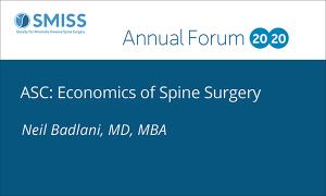 ASC: Economics of Spine Surgery