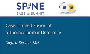 Case: Limited Fusion of a Thoracolumbar Deformity